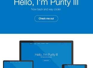 Plantilla Joomla gratuita y responsive: Purity III